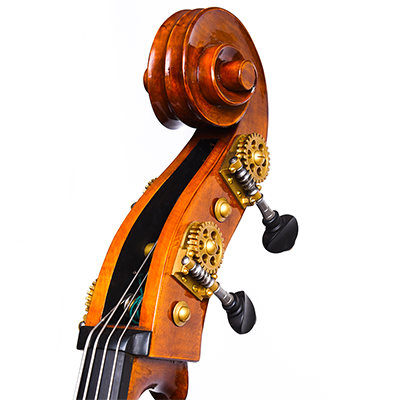 Cosimo Fischetti Double Bass, Scroll Close Up