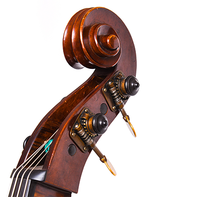 Guido Mariotto Double Bass, Close Up Scroll